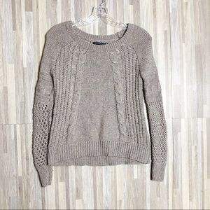 AEO | XS Beige Knitted Sweater